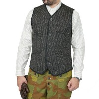 FREEWHEELERS フリーホイーラーズ LOADER OUTDOOR STYLE HUNTING VEST GREAT LAKES GMT. MFG.CO. GRAINED BLACK...