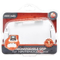 Rechargeable Grip with Retractable Cable for Nintendo DS Lite