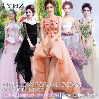 Dramatic High Low Cocktail Organza Dresses Feather Maxi Dresses Wedding Guest Party Homecoming Dress