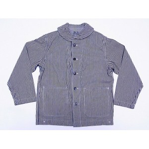 Buzz Rickson's[バズリクソンズ] カバーオール ワークジャケット BR12746A WWII HICKORY STRIPE WORK JACKET (ヒッコリー/NAVY) 送料無料...