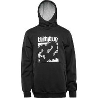 16-17 ThirtyTwo Stamped Fleece Pullover Hoodie Black S パーカー