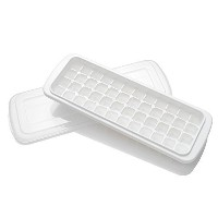 FaSoLa BPA-Free Ice Cube Tray with Lid (48 cubes, White) by FaSoLa
