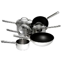 Meyer Professional Stainless Steel Cookware Set , 6-Piece - Silver by Meyer