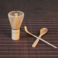 nuofeng Japanese Teaセット竹抹茶Whisk、スクープ&スプーン–Perfect for a従来のカップ抹茶