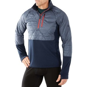 スマートウール メンズ ジャケット&ブルゾン アウター Smartwool Men's Propulsion 60 Hybrid Half Zip Jacket Dark Blue Steel