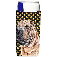 Shar Pei Candy Corn Halloween Ultra Beverage Insulators forスリム缶sc9647muk
