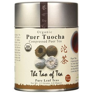 The Tao of Tea, Organic Puer Tuocha, Compressed Puer Tea, 4.0 oz (115 g)