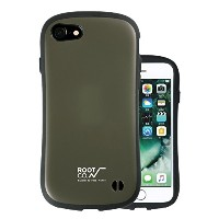 【ROOT CO.】 iFace アイフェイス iPhone7ケース iPhone8 ケース 耐衝撃 コラボ 耐衝撃/衝撃吸収 正規品 米軍MIL規格取得 (カーキ)Gravity Shock...