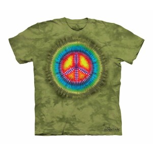 Tシャツ The Mountain: Peace Tie Dye (キッズ タイダイ ラブ&ピース)