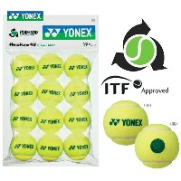 YONEX(ヨネックス)「マッスルパワーボール40(STAGE1 GREEN) TMP40(12個入り)」キッズ/ジュニア用テニスボール【店頭受取対応商品】