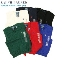 (TODDLER) Ralph Lauren Boy's(2-4) Cotton V-neck Sweater Vest ラルフローレン ボーイズ ニットベスト