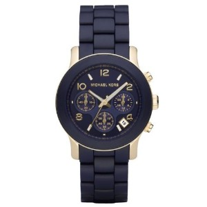 Michael Kors マイケルコース レディース腕時計 Women's MK5316 Navy Silicone Wrapped Runway Watch