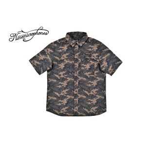 NINE MICROPHONES ナインマイクロフォンズ NINEMICROPHONES シャツ 半袖シャツ CAMOUFLAGE SHIRT S/S -Power of will- NMF3043...
