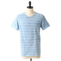 【SALE/セール】INDUSTRY OF ALL NATIONS(インダストリー オブ オール ネーションズ)Batlk Stripes Pocket Crew【2DIPS INDIGO】...