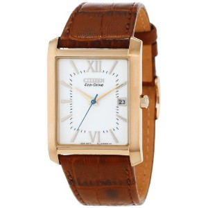 Citizen シチズン メンズ腕時計 Men's BM6788-05A Eco-Drive Brown Leather Strap Watch