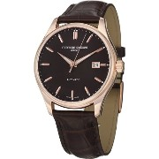 Frederique Constant フレデリック・コンスタント メンズ腕時計 Clear Vision Automatic Brown Dial Rose Gold-Tone Mens Watch 303C5B4