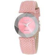 Jowissa ヨヴィッサ レディース腕時計 Women's J5.004.M Facet Dimensional Glass Pink Leather Watch