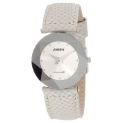 Jowissa ヨヴィッサ レディース腕時計 Women's J5.003.M Facet Dimensional Glass Grey Leather Watch