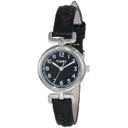Timex タイメックス レディース腕時計 Women's T2N660 Weekender Petite Black Leather Strap Watch