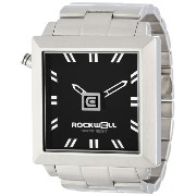 Rockwell Time ロックウェルタイム 男女兼用腕時計 Unisex FS102 50mm Squared Stainless Steel Silver and Black Watch