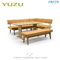 33%OFF [4点セット] GREEN home style YUZU SOFA LD TABLE + LD CHAIR A + LD CHAIR B[R] + LD BENCH (グリーン...