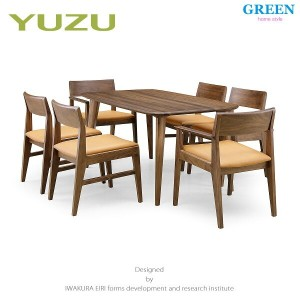35%OFF [7点セット] GREEN home style YUZU DINING TABLE B140 + ARM CHAIR F + SIDE CHAIR F (グリーン ユズ...