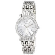 Timex タイメックス レディース腕時計 Women's T2P2589J Crystal Silver-Tone Stainless Steel Bracelet Watch