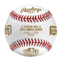 MLB ボール ローリングス/Rawlings 2012 World Series Baseball with Tigers and Giants Logos Display Cube
