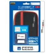 Game Accessory (New Nintendo 3DS) / Newニンテンドー3DS LL たっぷり収納ポーチ レッド 【GAME】