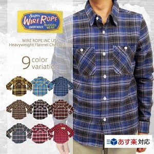 WIRE ROPE INC USA ワイヤーロープ Heavyweight Flannel Check Shirts ヘビーウェイトフランネルチェックシャツ/WIRE ROPE INC USA...