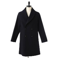 MP di Massimo Piombo [MP ディ マッシモ ピオンボ] / Shawl-Collar Overcoat Grencheck Wool (オーバーコート)PW17-P141902...