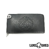 【LONE ONES】ロンワンズ【送料無料】【あす楽】/MF Wallet: Zipper Long Wallet (Nest & Logo) With Crane Hole MFウォレット...