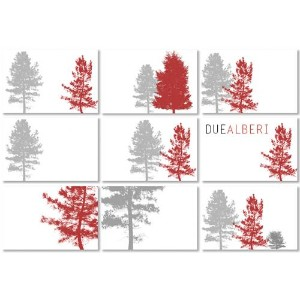 DUEALBERI | TREE CHRISTMAS CARDS SET | カードセット