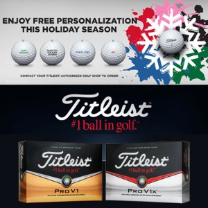 Titleist Special Holiday Offer Free Personalization カスタムボール【ゴルフ 特注/オーダーメイド>特注-ボール】