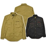 【SKULL FLIGHT スカルフライト】長袖シャツ/RIDERS STRETCH WESTERN SHIRTS 14-02 ★送料・代引き手数料無料!REAL DEAL