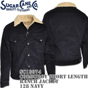 Sugar Cane(シュガーケーン)CORDUROY SHORT LENGTH RANCH JACKET Navy SC13074-128