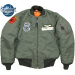 "BUZZ RICKSON'S/バズリクソンズ Jacket, Flying, Intermediate Type MA-1 ORIGINAL SPEC.""LINECREWMAN""3rd AERO RESCUE RCVR. GP.オリジナルスペック リバーシブルMA-1/チェッカーボードMA-1 Lot/BR13110"