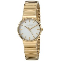 スカーゲン 腕時計 レディース 時計 Skagen Women's SKW2199 Ancher Quartz 3 Hand Stainless Steel Gold Watch