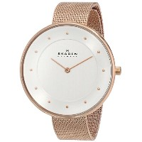 "スカーゲン 腕時計 レディース 時計 Skagen Women's SKW2142 ""Gitte"" Stainless Steel Rose-Gold Watch"