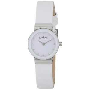 スカーゲン 腕時計 レディース 時計 Skagen Women's 358XSSLWW Freja Quartz 2 Hand Stainless Steel White Watch