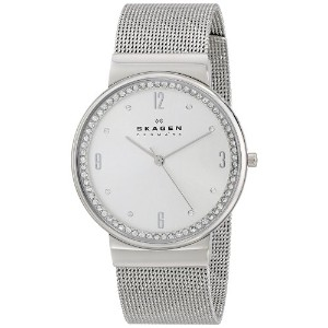 スカーゲン 腕時計 レディース 時計 Skagen Women's SKW2152 Ancher Quartz 3 Hand Stainless Steel Silver Watch