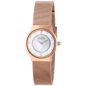 スカーゲン 腕時計 レディース 時計 Skagen Women's 233XSRR Grenen Quartz 2 Hand Stainless Steel Rose Gold Watch