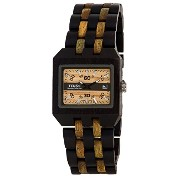 テンス 時計 腕時計 木製 Tense Discovery Comox Rectangular Dark Sandalwood/Green Wood Watch B5100DG