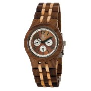 テンス 時計 腕時計 木製 Tense Adventure Vernon Triple Dial Multifunction Jumbo Walnut Maple Wood Watch J5203WM...
