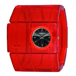 "ベスタル 時計 レディース 腕時計 Vestal Women's RSA015 ""Rosewood"" Red Acetate Bangle Watch"