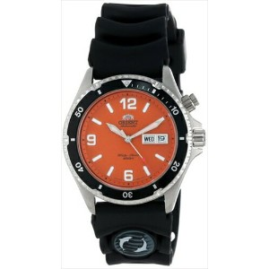 オリエント 時計 メンズ 腕時計 Orient Men's CEM65004M 'Orange Mako' Automatic Rubber Strap Dive Watch