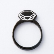 [リトルレーモンド]LITTLE RAYMOND DIAMOND RING(BLACK)