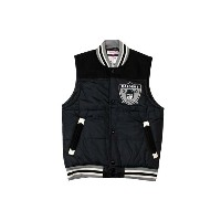 MITCHELL&NESS Tittle Holder Vest (OAKLAND RAIDERS : Black)ミッチェル&ネス ダウンベスト/黒