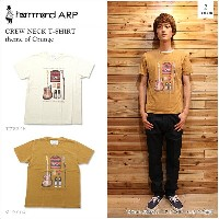 hammond ARP(ハモンドアープ)CREW NECK T-SHIRT theme of Grunge 2color クルーネックTシャツ