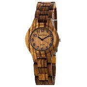 テンス 時計 メンズ 腕時計 木製 Tense Mens Round Zebrawood Coastal Pacific Unique Wooden Watch G7509Z